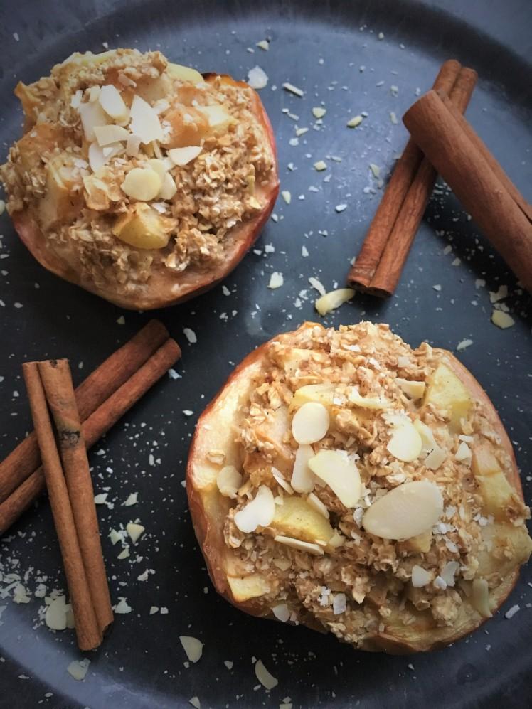 porridge dans une pomme