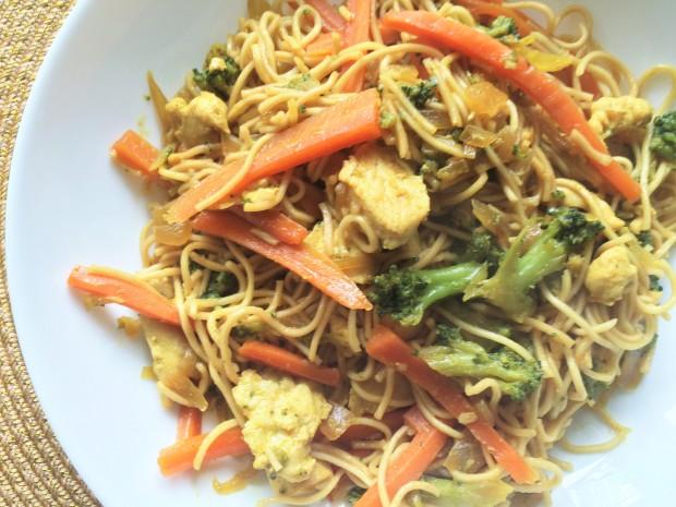 nouille chinoise au poulet